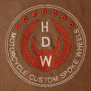 HDW Logo on Brown T-Shirt