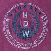 HDW Logo on Crimson T-Shirt