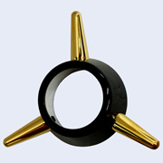 3-Bar Spinner black and gold