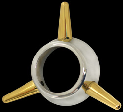 3-Bar spinner chrome and gold