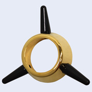 3-Bar Spinner gold and black