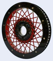 40 spoke pulley red