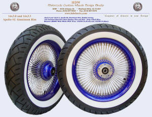 16x3.0 and 16x3.5, Apollo-SL, Radial Deep Cobalt Blue, White wall tires