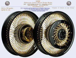 18x3.5 and 18x3.5, Apollo-SL, Radial, Vivid Black, Gold plating, 360 brake, 40 spoke pulley