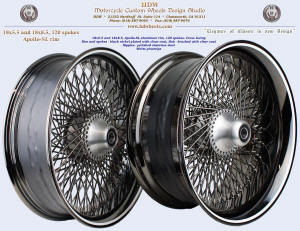 18x5.5 and 18x8.5, Apollo-SL, Black nickel, Brushed, Clear coat, White pinstripe