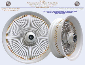 21x2.15 and 18x5.5, Apollo-SL, Radial, White, Gold plating