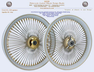 21x3.25, Apollo-SL, Radial, White, Gold plating, Gold pinstripe, 3-Bar spinner