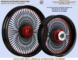 21x3.25 and 16x3.5 Apollo-SL 120 spokes Radial Black and Red
