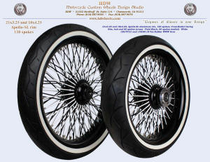 21x3.25 and 18x4.25, Apollo-SL, Cross-Radial, Vivid Black and White, White Wall tires
