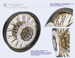 21x3.5, Apollo, Cross-Radial, Twisted radial spokes, Vivid Black, Gold plating, 2-piece rotors