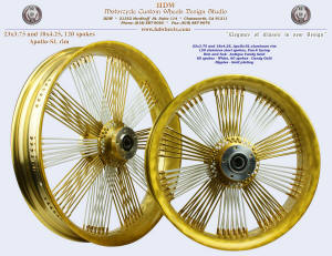 23x3.75 and 18x4.25, Apollo-SL, Fan-6, Antique Candy Gold, White, Gold plating