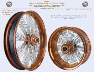 6x3.75 and 16x5.5, Apollo-SL, Fan-6, Copper pating with clear coat, Solid brass nipples