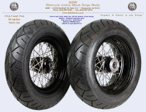 15x4.5 and 15x6.0, Steel rim, Vivid Black, 180 and 200 tires
