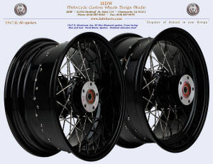 15x7, Aluminum rim, New Diamond spokes, Vivid Black