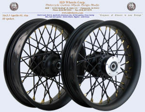 16x3.5, Apollo-SL, Fat spokes, Denim Black,