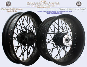 17x3.5 and 17x6.25, Apollo-SL, Fat spokes, Denim Black
