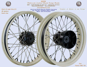 18x2.15 and 18x4.25, Steel rim, Ivory, Vivid Black, Street XG 500 / 750