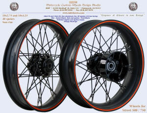 18x2.75 and 18x4.25, Sun rim, S-Cross, Denim and Vivid Black, Orange pinstripe, Street XG500 / 750