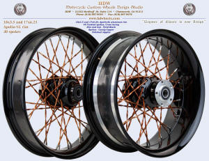 18x3.5 and 17x6.25, Apollo-SL, Twisted spokes, Vivid Black, Candy Copper