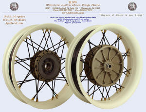 18x3.5 and 18x4.25, Apollo-SL, S-Cross, Matte Ivory, Denim Black, Gold nipples, Luchier and BMW hubs
