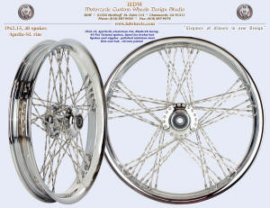 19x2.15, Apollo-SL, Blade-48, Fat Twisted spokes, Chrome, Spool (no brake) hub