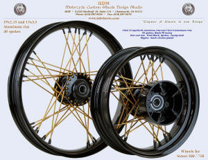 19x2.15 (Apollo-SL) and 15x3.5 (Aluminum rim), Blade-48, Vivid Black, Candy Gold, Street XG 500 / 750