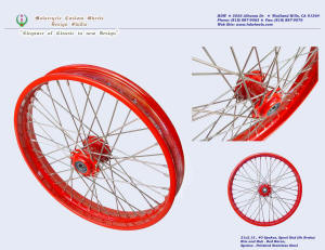 21x2.15, Excel aluminum rim, Red Baron, Spool (no brake) hub