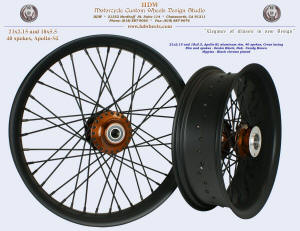 21x2.15 and 18x5.5, Apollo-SL, Denim Black, Candy Brown, Black chrome plated nipples