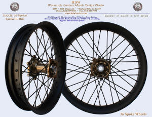 21x3.25, Apollo-SL, 36 spokes, Denim Black, Black chrome plated nipples