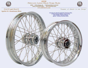 21x3.25 and 18x4.25, New Diamond spokes, Chrome