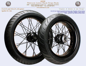 21x3.25 and 18x4.25, Apollo-SL, S-Cross, Vivid Black, Copper plated nipples, 120 and 150 tires