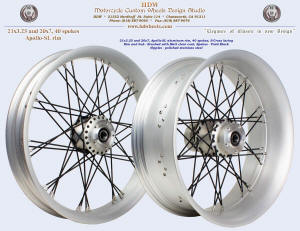 21x3.25 and 20x7.0, Apollo-SL, S-Cross, Brushed with matte clear, Vivid Black