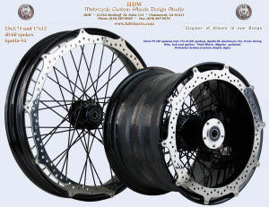 23x3.75 (40 spokes) and 17x12 (60 spokes), Apollo-SL, Vivid Black, Perimeter brakes
