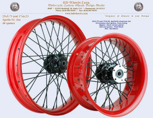 23x3.75 and 17x6.25, Apollo-SL, Red Baron, Vivid Black, Black chrome plated nipples