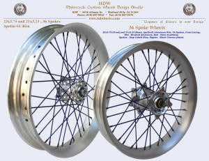 23x3.75, Apollo-SL, 36 spokes, Brushed, Deep Cobalt Blue, Black chrome plated nipples