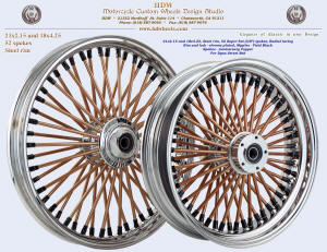 21x2.15 and 18x4.25, Steel rim, Chrome, Anniversary Copper, Vivid Black