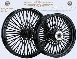 21x3.5 and 18x4.25, Steel rim, Super Fat spokes, Vivid Black