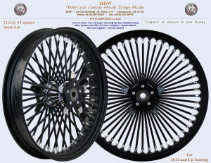21x3.5, Steel rim, Super Fat spokes, Denim Black, Chrome, TRC-14 rotor carriers