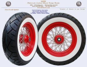 15x4.25, red whee, 170 white wall tire