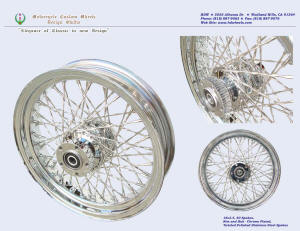 16x3.5, Chrome, Twisted spokes