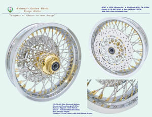 16x3.5, Apollo, Chrome and Gold, New Diamond spokes