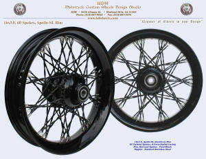 16x3.5, Apollo-SL, S-Cross-Radial, Twisted spokes, Vivid Black