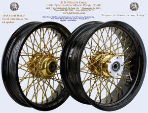 16x3.5 and 16x5.5 Excell rim Candy Brass and vivid Black