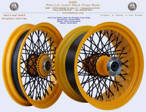 16x3.0 and 16x8.0, Chrome Yellow, Denim Black