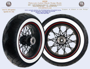 16x5.5, Apollo-SL, S-Cross-Radial, Twisted, Denim Black, Red pinstripe, 200 custom WWW tire