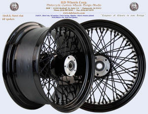 16x8.0 60 spokes steel rim black