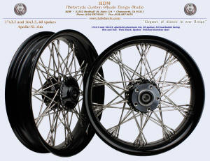 17x3.5 and 16x3.5, Apollo-SL, S-Cross-Radial, Narrow Glide, Vivid Black