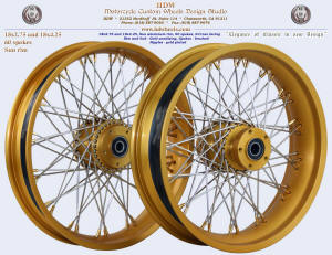 18x2.75 and 18x4.25 Sun rim, S-Cross, Gold anodizing, Brushed, Gold plated nipples