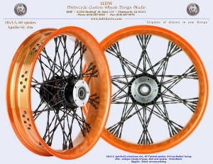 18x3.5, Apollo-SL, S-Cross-Radial, Twisted, Candy Orange, Vivid Black