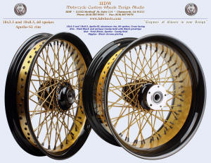 18x3.5 and 18x8.5, Apollo-SL, Two tone, Black and Antique Candy Gold, Black nipple, Black pinstripe